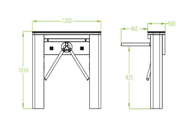 Thông số kỹ thuật cổng xoay tự động TS5000A-